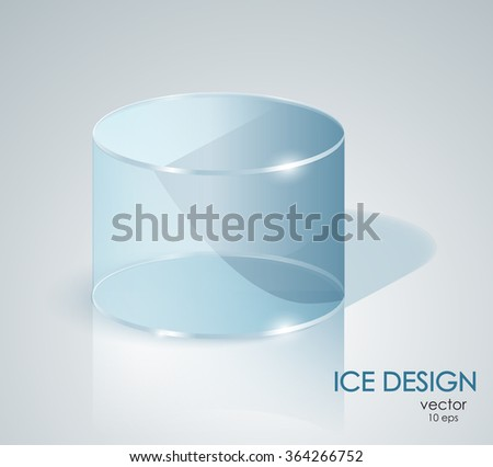 blue ice cylinder glass