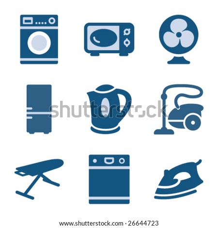 Blue icon set 18