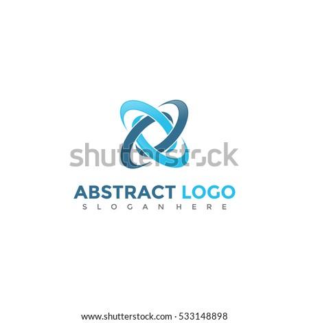 Blue Icon vector. Abstract logo template. Vector Illustration eps.10