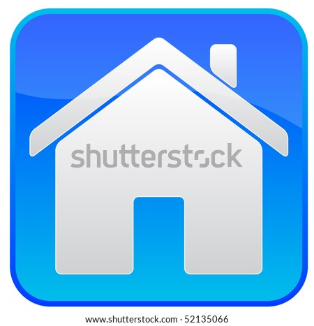 Blue icon with a house logo