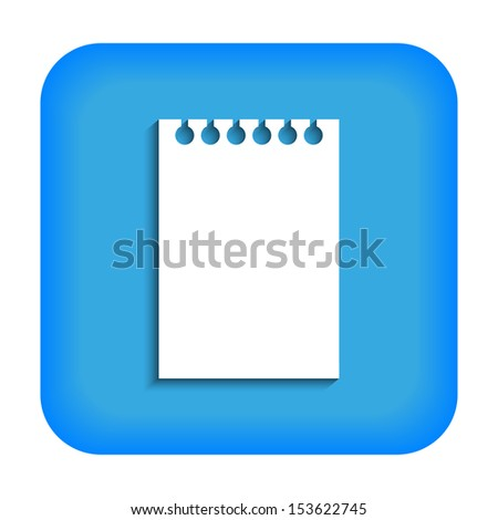 Blue icon with the image of a leaf from notepad