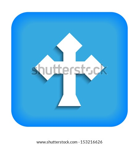 Blue icon with the image of rustrakehner color crosses ace