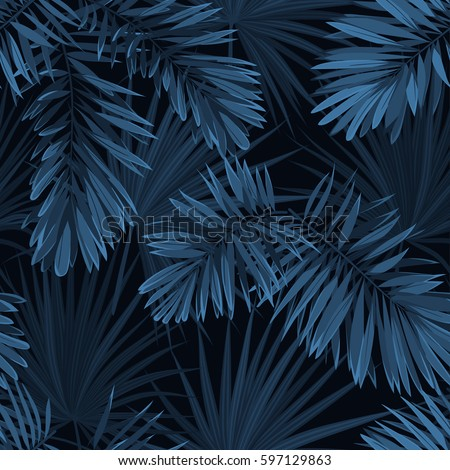 blue indigo summer tropical...