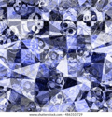 blue  ink color grunge