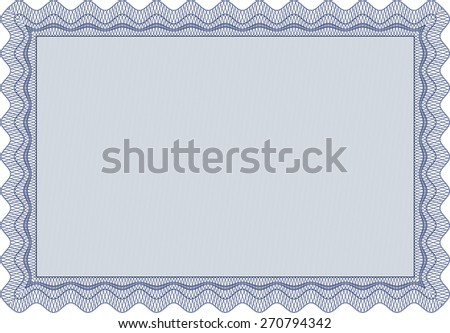 Blue isolated Vector certificate template.
