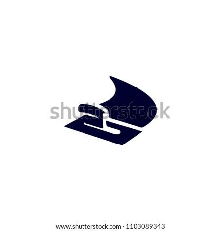 Blue Isolated Vector Stucco Plasterer Logo