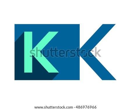 blue k typography typeset logotype alphabet font image vector icon logo symbol