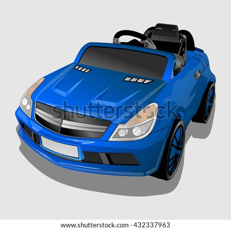blue kids car