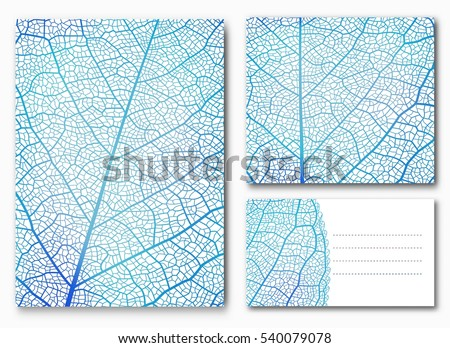 blue leaf backgrounds with