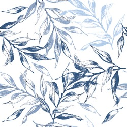 Blue leaves texture pattern.Watercolor floral background.Seamless pattern can be used for wallpaper,pattern fills,web page background,surface textures