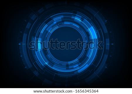 blue light circle center