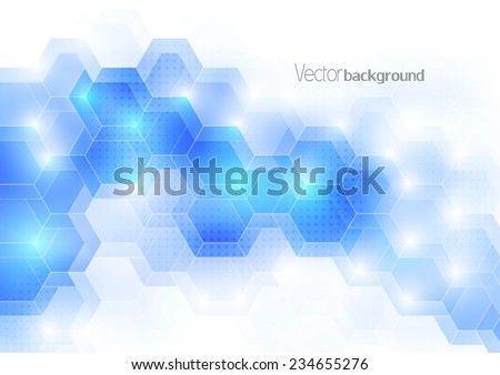 blue light color abstract