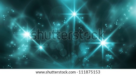 Blue light effects background for any magical event full of energy. Space for you message.