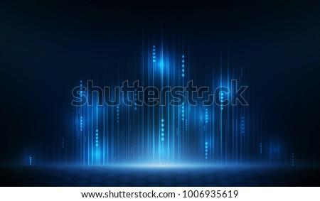 Blue light network background. Vector illustration.