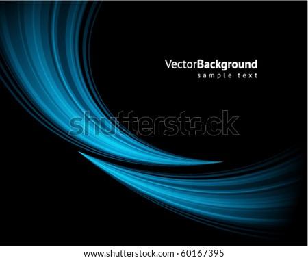 stock-vector-blue-light-wave-vector-background