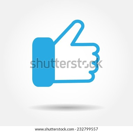 blue like agree icon vector