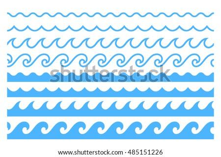 blue line wave ornament