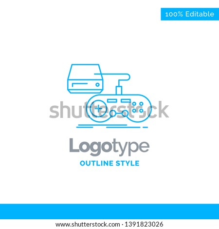 blue logo design for console