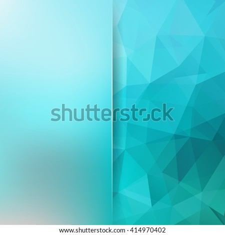 blue low poly triangles