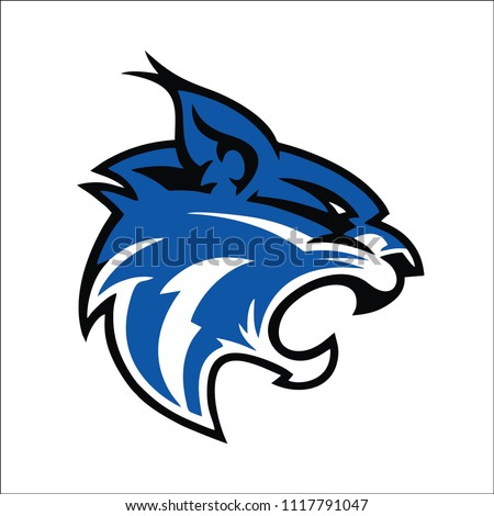 blue lynx mascot logo illustration
