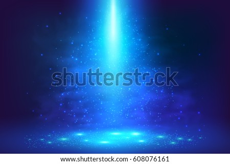 Blue magic underwater light abstract vector background