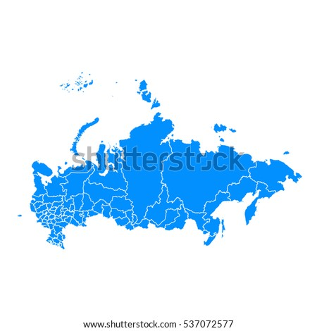 blue map of russia