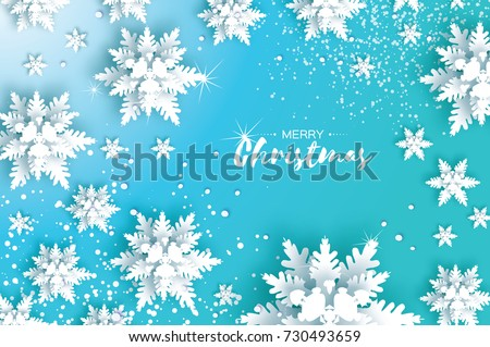 blue merry christmas greetings