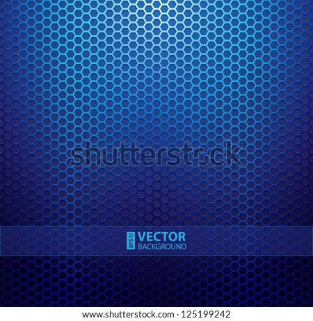 Blue metallic grid background. RGB EPS 10 vector illustration