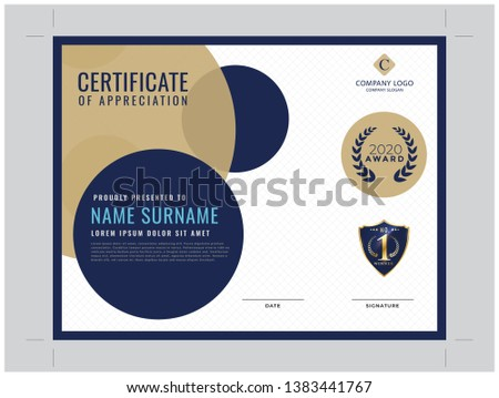 Blue Modern Certificate of Distributor