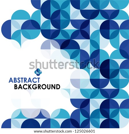 Blue modern geometrical abstract background