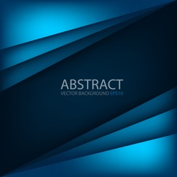 Blue modern vector background overlap multi paper lighting square for text and message website design