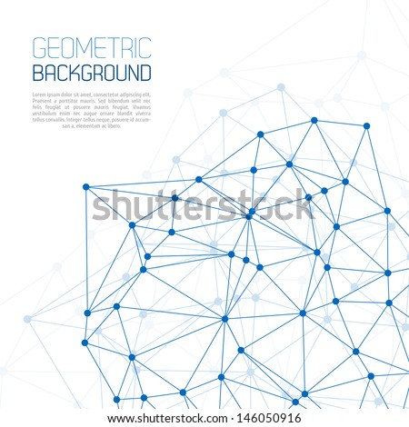 Blue Molecule And Communication Background