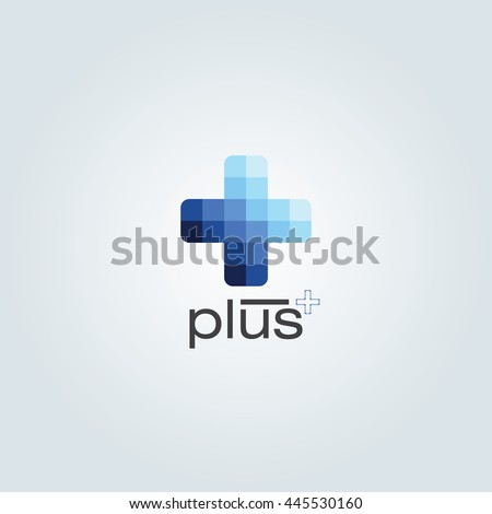 stock-vector-blue-monochromatic-color-plus-design