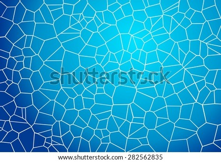 blue mosaic background looking