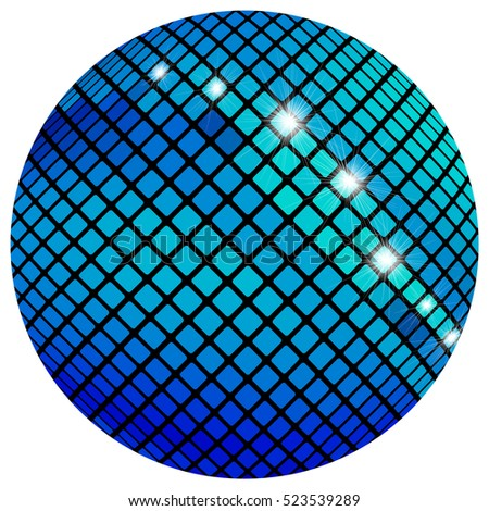 blue mosaic ball  isolated on a
