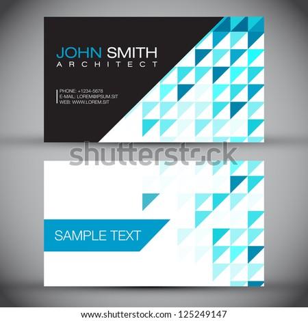 Mosaic modern business card set eps10 vector design stock vector
