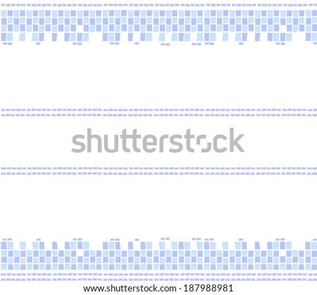 Blue Mosaic Text Border