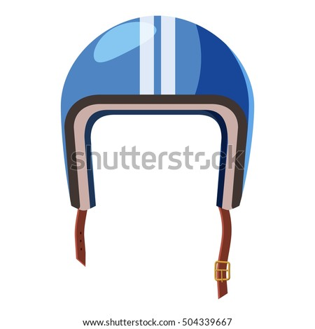 Blue motorcycle helmet icon. illustration of motorbike or motorcycle helmet vector icon for web