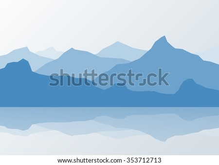 blue mountain landscape and
