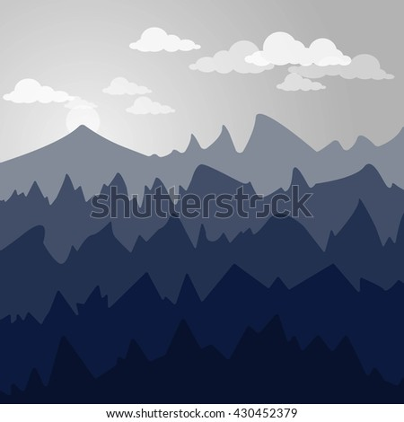 blue mountain landscape in