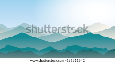 blue mountains landscape in