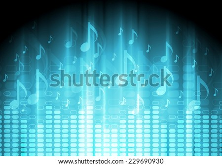 blue music background with