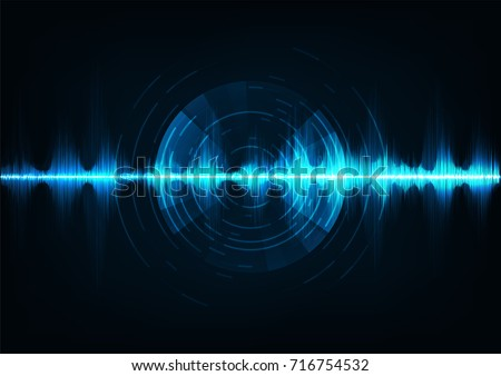 blue music sound waves audio