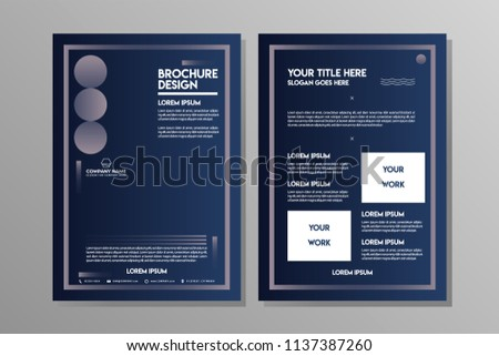 Blue Navy abstract geometric brochure template for Business Flyer or Sport Leaflet
