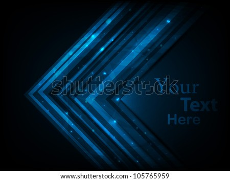 blue neon card. vector illustration