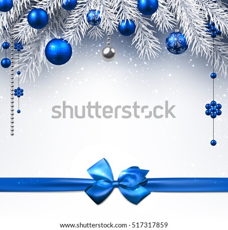 blue new year background with