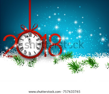 blue 2018 new year background