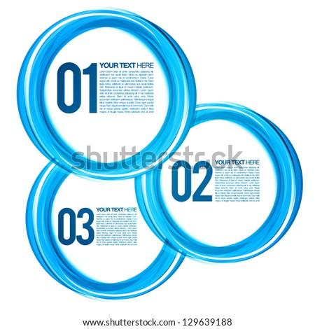 Blue Next Steps Circles Design Layout | EPS10 Vector Background