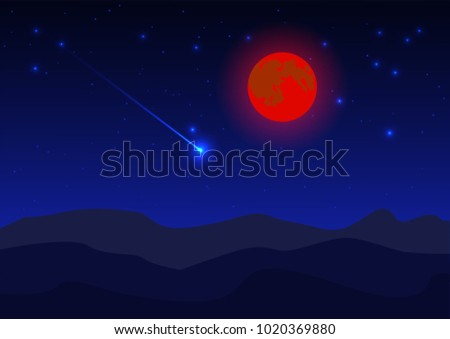 blue night sky background with