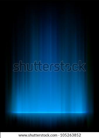 blue northern lights  aurora